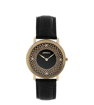 Nebula Watches 5037DL01 Filigree 18KT Solid Gold Analog Watch for Men