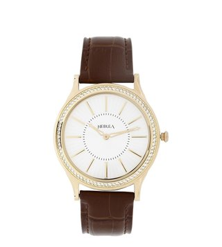 Nebula Watches 5033DL01 18KT Solid Gold Analog Watch for Men