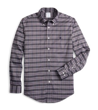 Brooks Brothers Multicolored Regent Fit Tartan Checked Sport Shirt