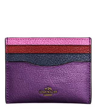 Coach Purple Flat Medium Card Holder