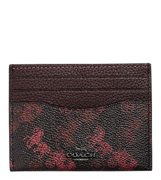 Coach Black Horse And Ccc Kat Flat Medium Card Holder