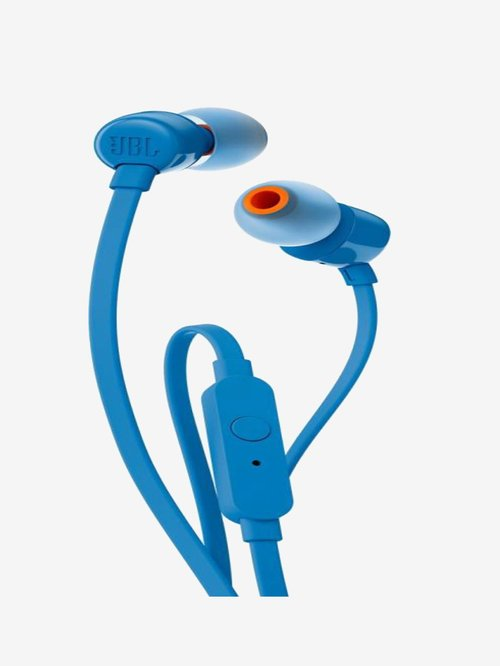 Jbl T110 Wired Earphones With Mic  Blue