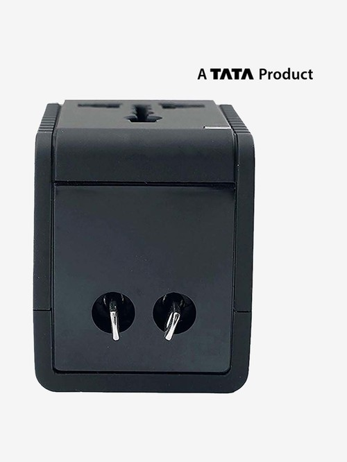 Croma 2.1A 2 USB Port Universal Travel Adapter  Black