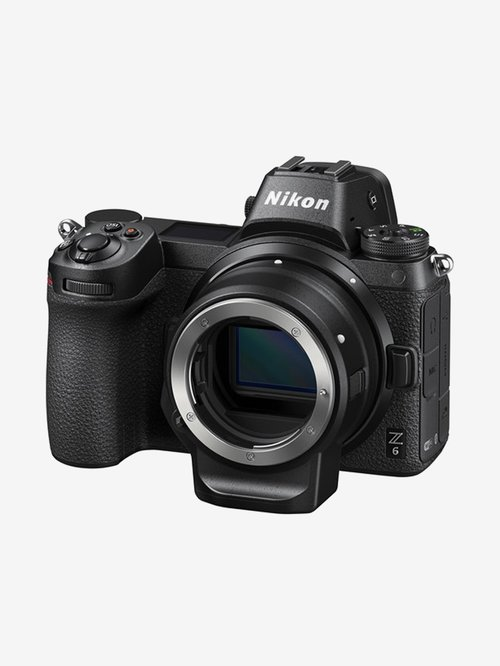Nikon Z6  Body Only + Mount Adapter FTZ  FX format Mirrorless Camera with 64 GB XQD card  Black