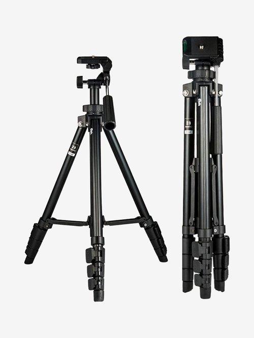 Benro T560 56.5 Inch Digital SLR Camera Aluminium Tripod with Carry Bag  Black