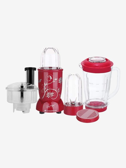 Wonderchef Nutri Blend 63153393 400W 3 Jars Juicer Mixer Grinder  Red