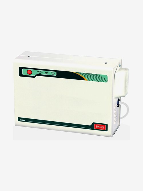 Premier 4 Kva Voltage Stabilizer for AC upto 1.5 Ton  White  Premier Electronics TATA CLIQ