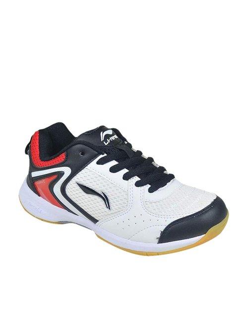 Li Ning Attack White Badminton Shoes