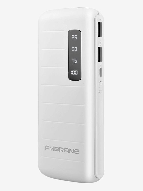 Ambrane P 1144 10000 mAh Power Bank  White