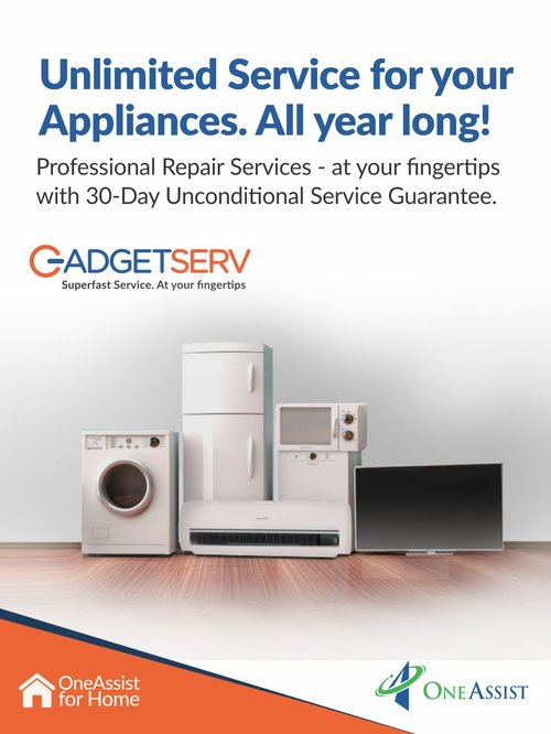 GadgetServ Unlimited Protection Plan for TV & Appliances (with FREE Repair Vouchers worth 3000)