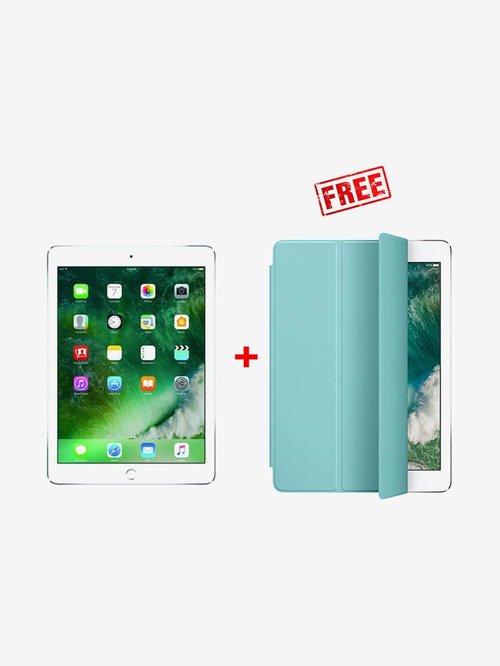 Apple iPad 6th Gen 128   GB Wi Fi  Silver  With Free Original Sea Blue Smart Cover
