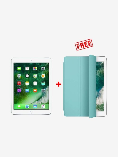 Apple iPad 6th Gen 32  GB Wi Fi  Silver  With Free Original Sea Blue Smart Cover