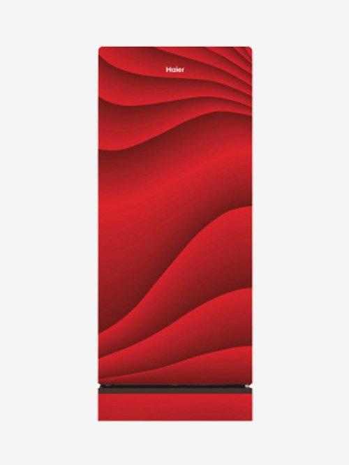 Haier 220 L 4 Star  2019  Direct Cool Single Door Refrigerator  Red, HRD 2204PWG E  Haier Electronics TATA CLIQ