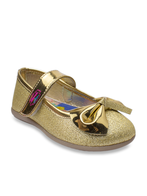 Gold Toddler Girls/' Shimmer and Shine Ballet Flats