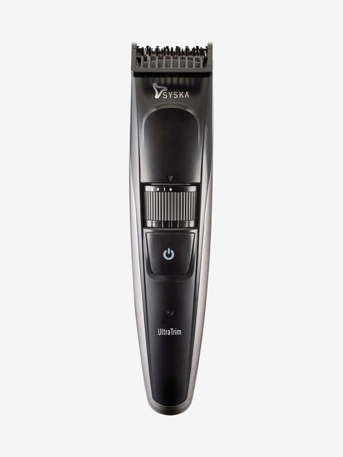 Syska HT800 3W Rechargeable Cordless Trimmer for Men  Black and Grey