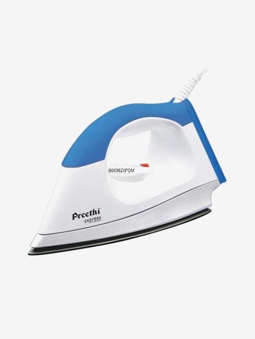 Preethi Express 1000 W Swivel Cord Dry Iron  Blue