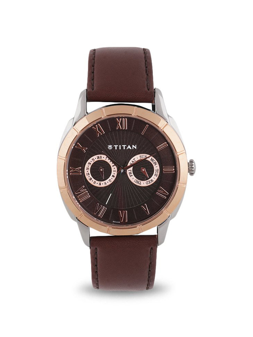 Titan NL1489KL02 Smartsteel Analog Watch for Men