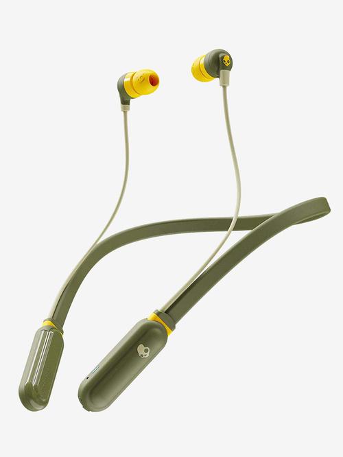 Skullcandy Inkd Plus S2Iqw M687 Bluetooth Headphone With Mic  Olive/Yellow