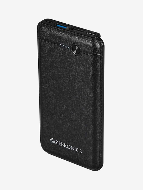 Zebronics ZEB MC10000S1 10000 mAh Dual Port Power Bank  Black