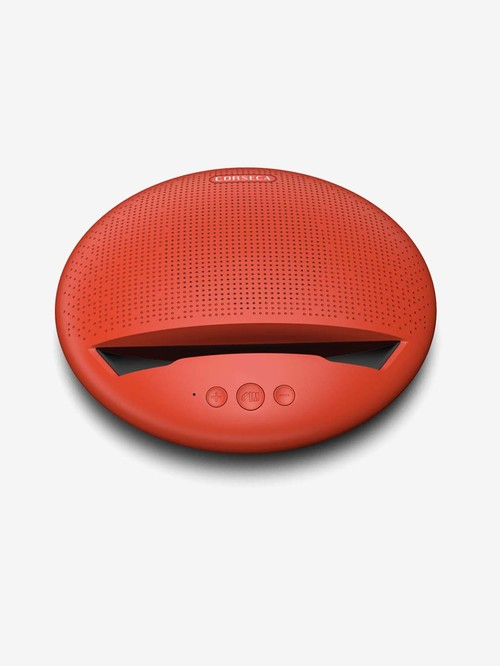 Corseca MuDisc DMS2380 5W Wireless Bluetooth Speaker with Microphone  Red
