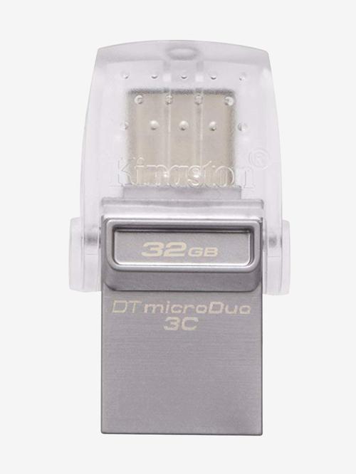 Kingston DataTraveler DTDUO3C USB 3.0 32 GB Flash Drive  Grey