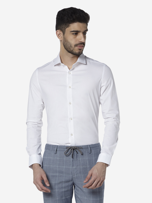 WES Formals by Westside White Ultra-Slim Fit Shirt