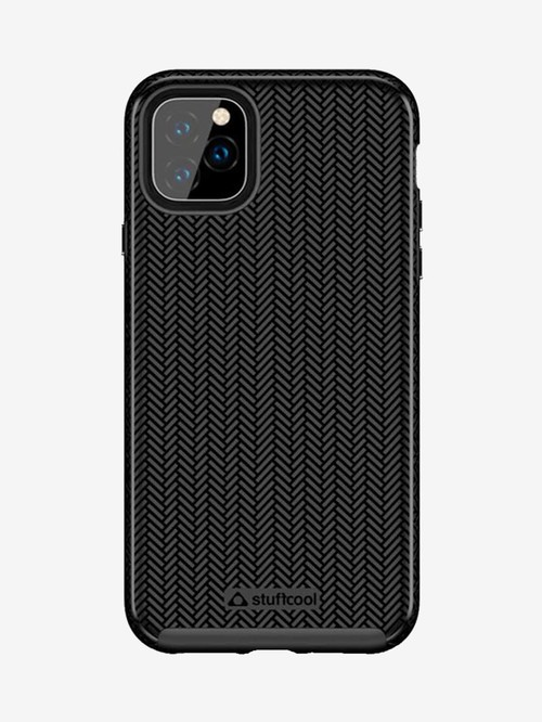 Stuffcool Pine PINEIP1165 Hard Back Case Cover for Apple iPhone 11 Pro Max (Black)