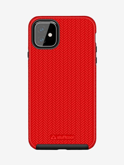 Stuffcool Pine PINEIP1165 Hard Back Case Cover for Apple iPhone 11 Pro (Red)