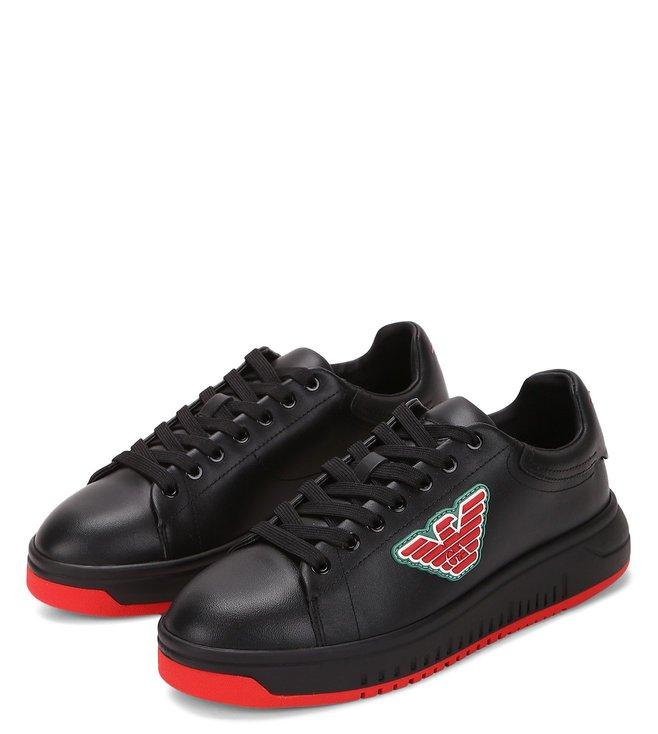 Buy Emporio Armani Black Women Sneakers