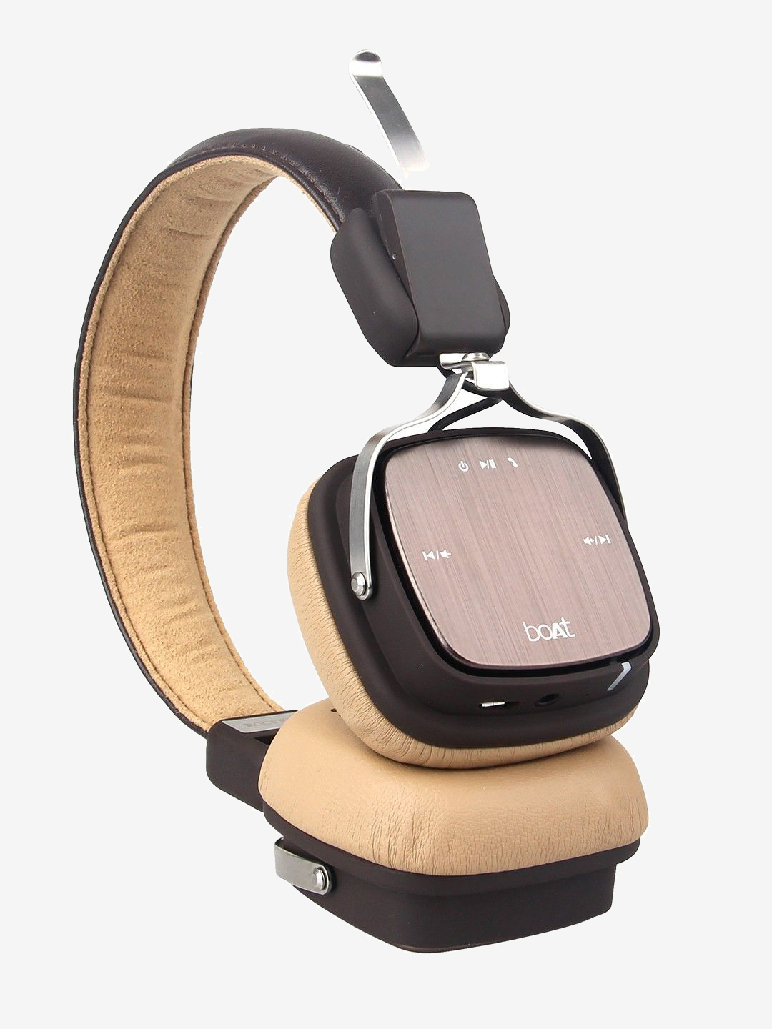 Buy Boat Rockerz 600 Bluetooth Headphone With Microphone Brown Online At Best Price Tata Cliq
