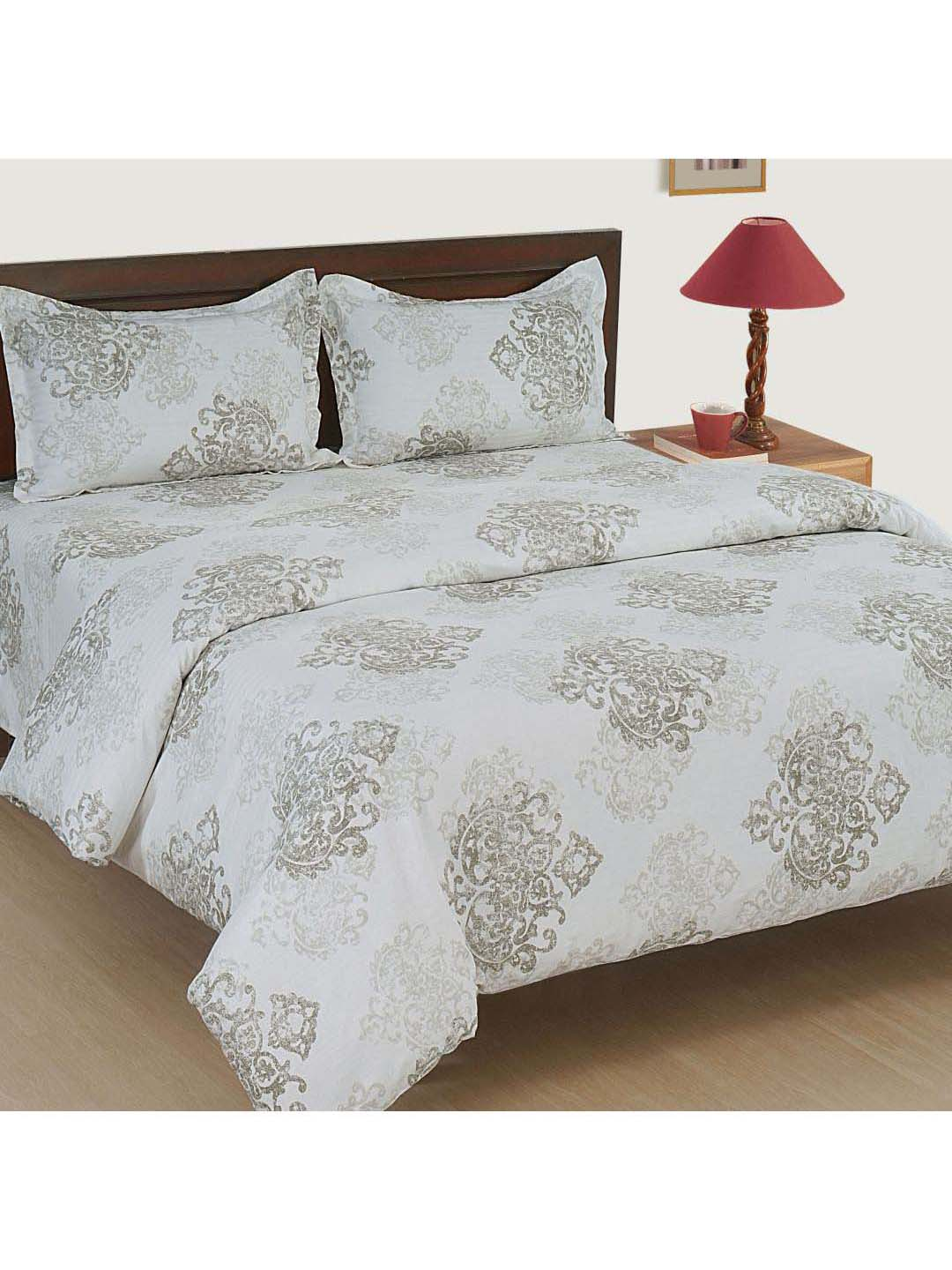 Swayam Zinnia White 250 Gsm Bed Sheet Set From Swayam At Best Prices On Tata Cliq