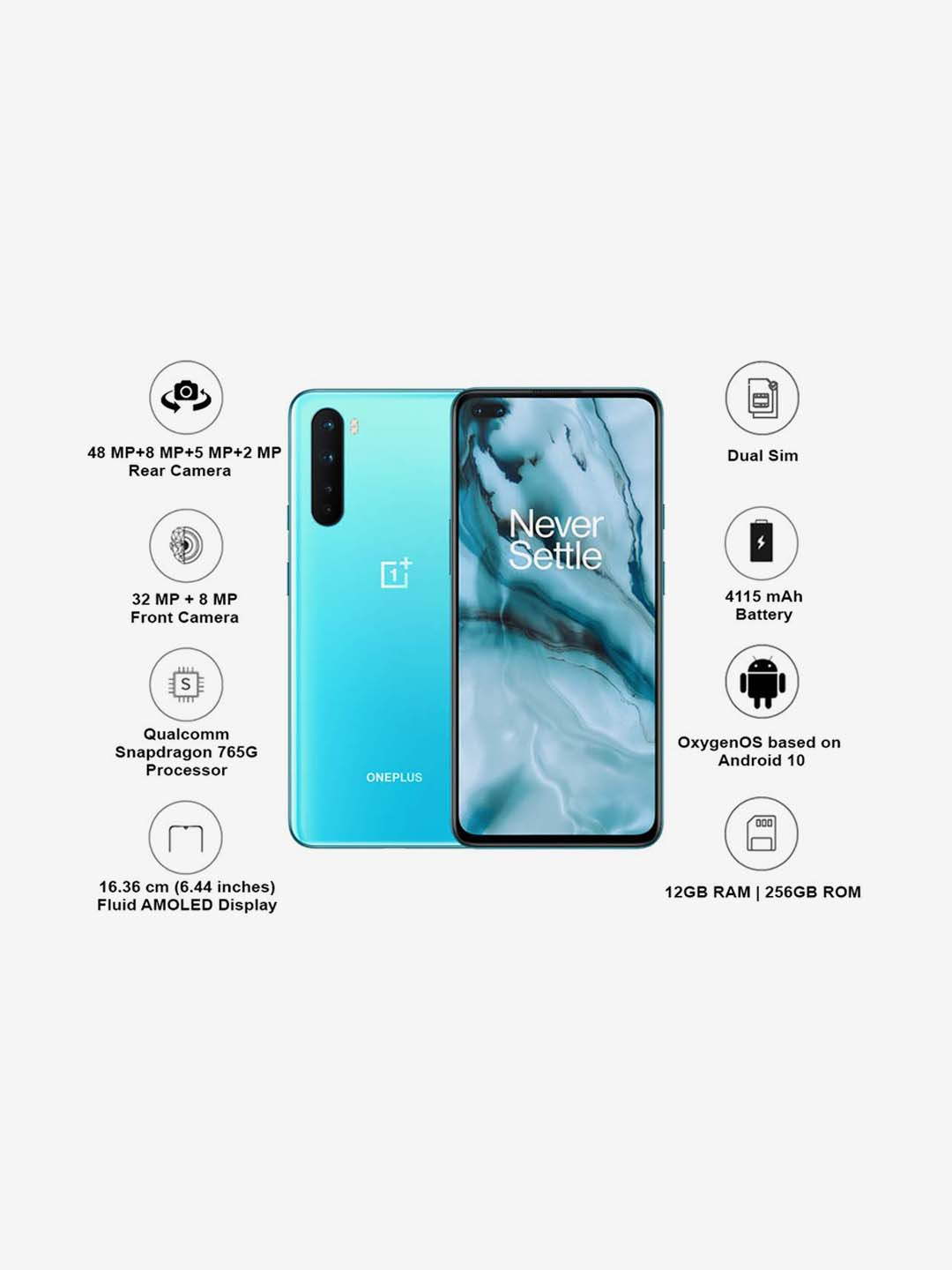 Buy Oneplus Nord 256 Gb Blue Marble 12 Gb Ram Dual Sim 5g Online At Best Prices Tata Cliq