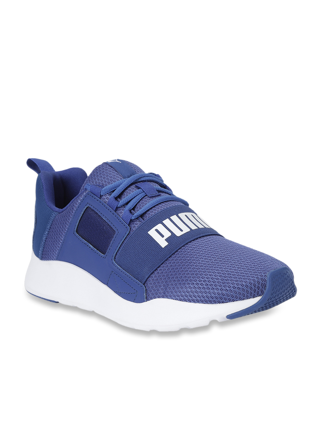 Buy Puma Wired Cage Blue Running Shoes