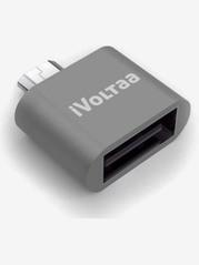 iVoltaa Micro USB OTG Adapter  Grey  iVoltaa Electronics TATA CLIQ