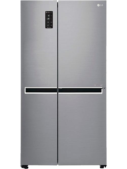 LG 687L Inverter Linear Frost Free Side by Side Refrigerator  Shiny Steel , GC B247SLUV  LG Electronics TATA CLIQ