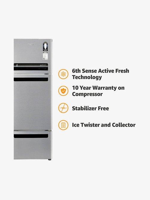 Whirlpool FP 263D Royal Protton 240L Triple Door Refrigerator  Alpha steel