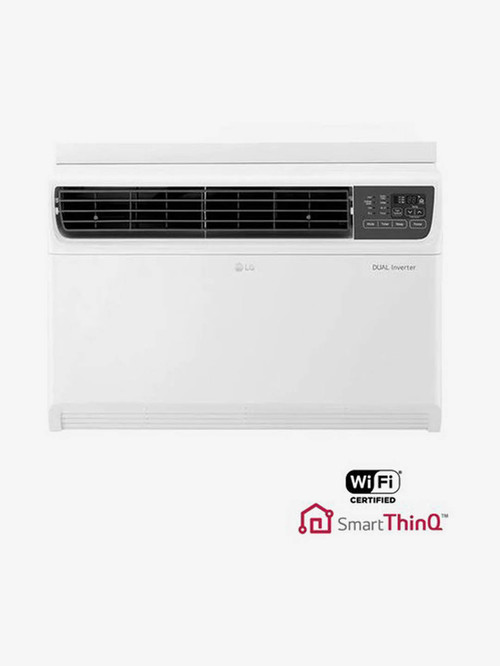 LG 1.5 Ton Inverter 5 Star Copper JW Q18WUZA Window AC  White  LG Electronics TATA CLIQ