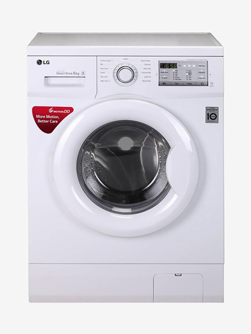 LG 6 Kg Inverter Fully  Automatic Front Load Washing Machine with Heater  FH0FANDNL02,White