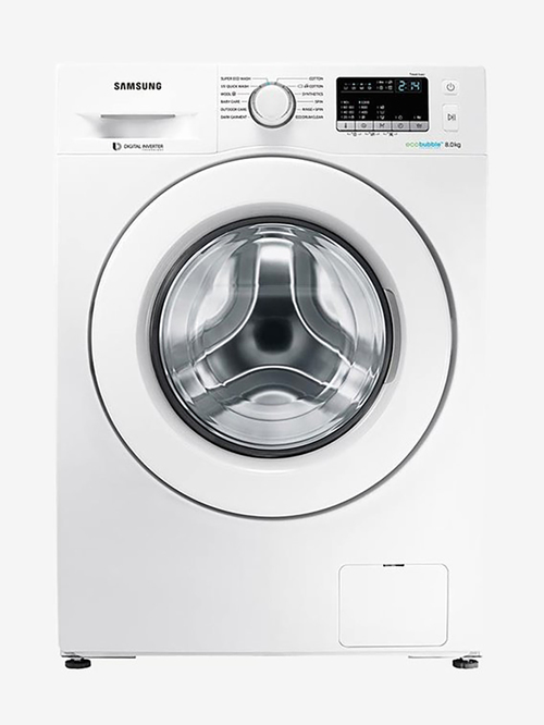 Samsung 8 Kg Inverter Fully Automatic Front Load Washing Machine  WW80J4243MW/TL,White