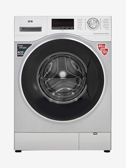 IFB 8.0 kg 5 Star Fully Automatic Front Load Washing Machine with Heater  SENATOR WXS, Silver
