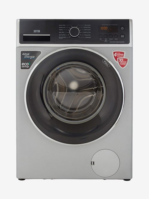 IFB 7 Kg Fully Automatic Front Load Washing Machine  ELITE ZXS, Silver  IFB Electronics TATA CLIQ