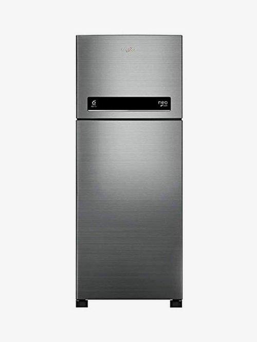 Whirlpool 265L 2 Star 2020 Frost Free Double Door Refrigerator  Arctic Steel, NEO DF278 PRM