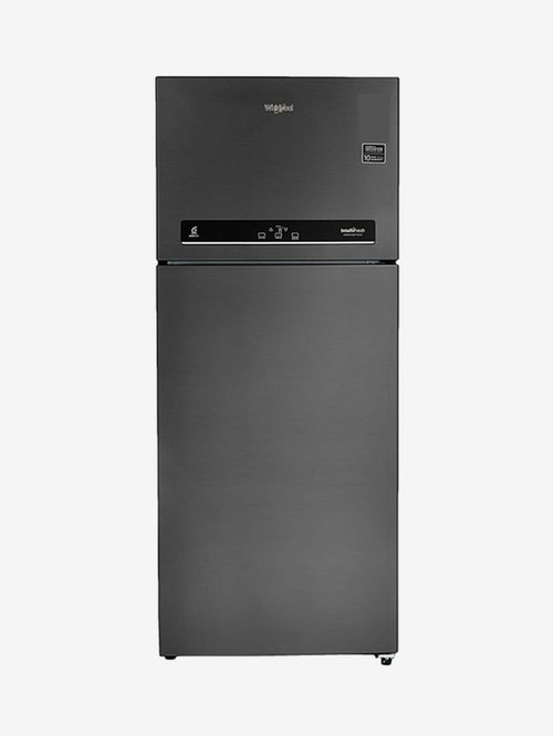 Whirlpool 440L Inverter 3 Star 2020 Double Door Convertible Refrigerator  Steel Onyx, IF INVCNV 455