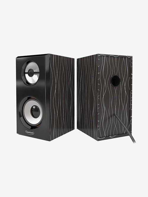 Quantum 6W 2.0 Channel Wired Speaker  QHM636, Black