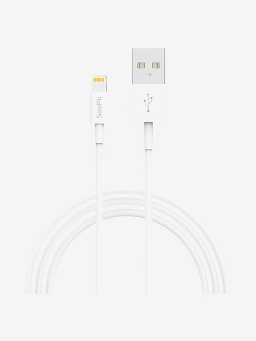 Jabox 2.4Amp 2m USB to Lightning Charging Cable  22A2, White