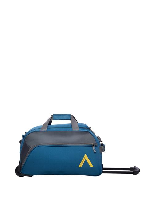 Aristocrat Teal Blue   Grey 2 Wheel Small Duffle Trolley   30 cm