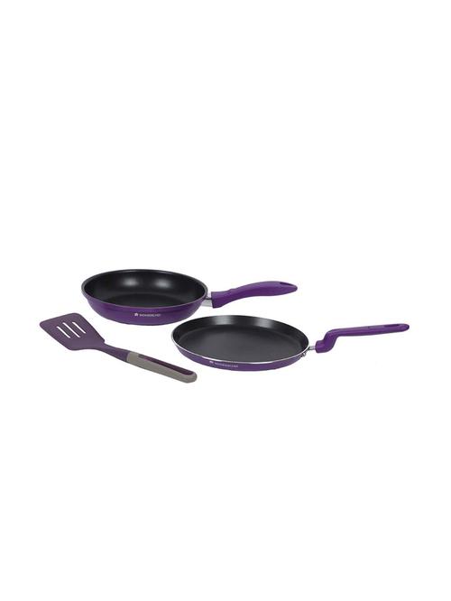 Wonderchef Purple Elite FD Cookware Set   Pack of 3