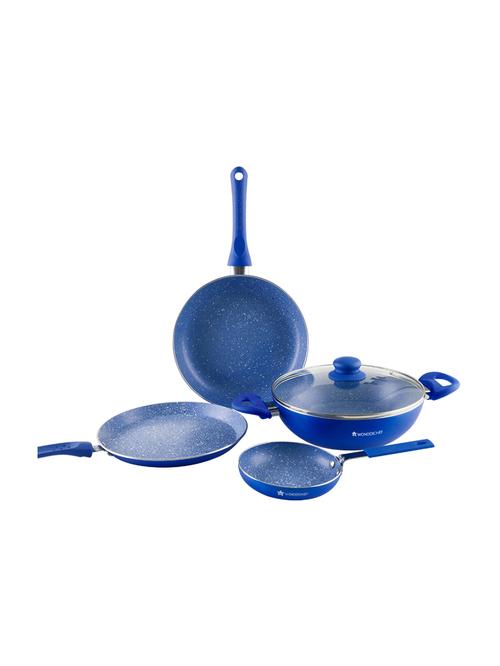 Wonderchef Blue Royal Velvet Cookware Set   Pack of 4