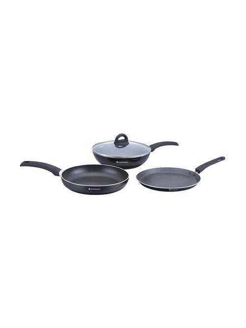 Wonderchef Black Beauty Cookware Set   Pack of 3