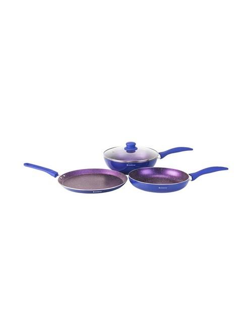 Wonderchef Blue 1H Blueberry Cookware Set   Pack of 3